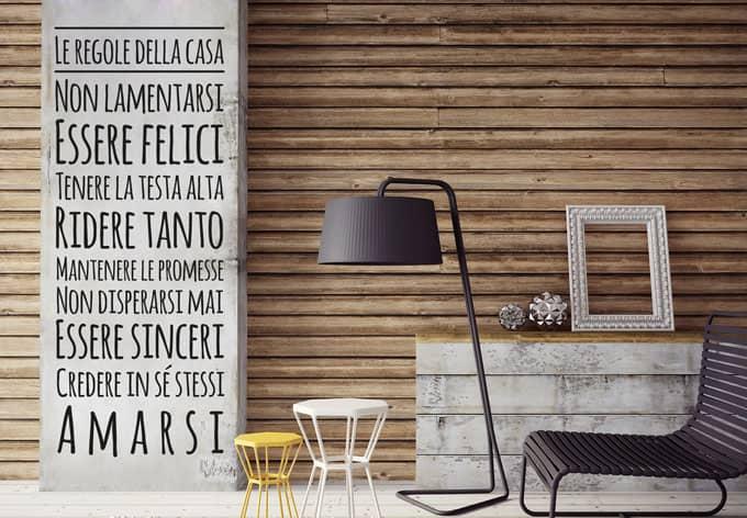 Regole della casa 2 wall for Regole per casa