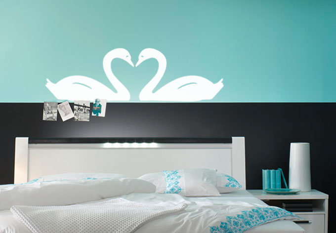 wandtattoo schw ne. Black Bedroom Furniture Sets. Home Design Ideas