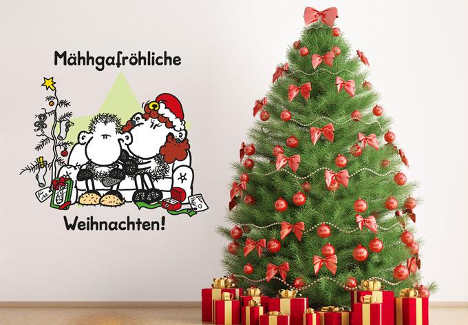 wandtattoo m hhgafr hliche weihnachten von sheepworld. Black Bedroom Furniture Sets. Home Design Ideas