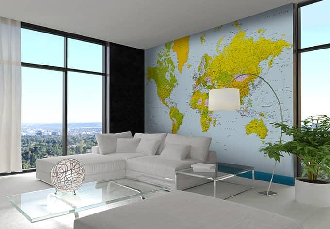 Papierbehang Map of the World
