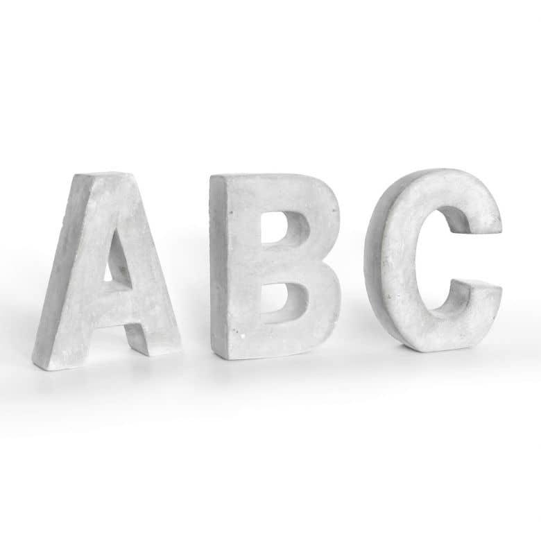 Deko Buchstaben Beton Einzel