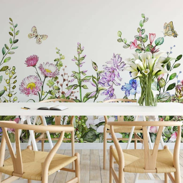 Photo Wallpaper Summer flowers
