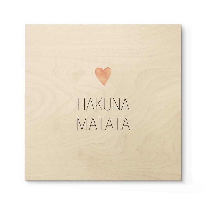 Houten Poster - Hakuna Matata