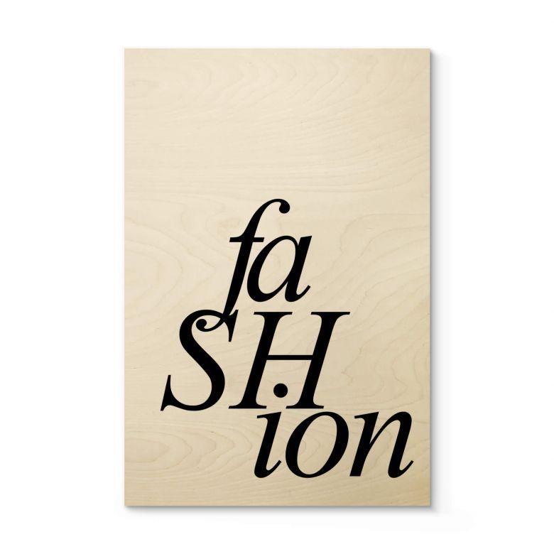 Holzposter Fashion 01