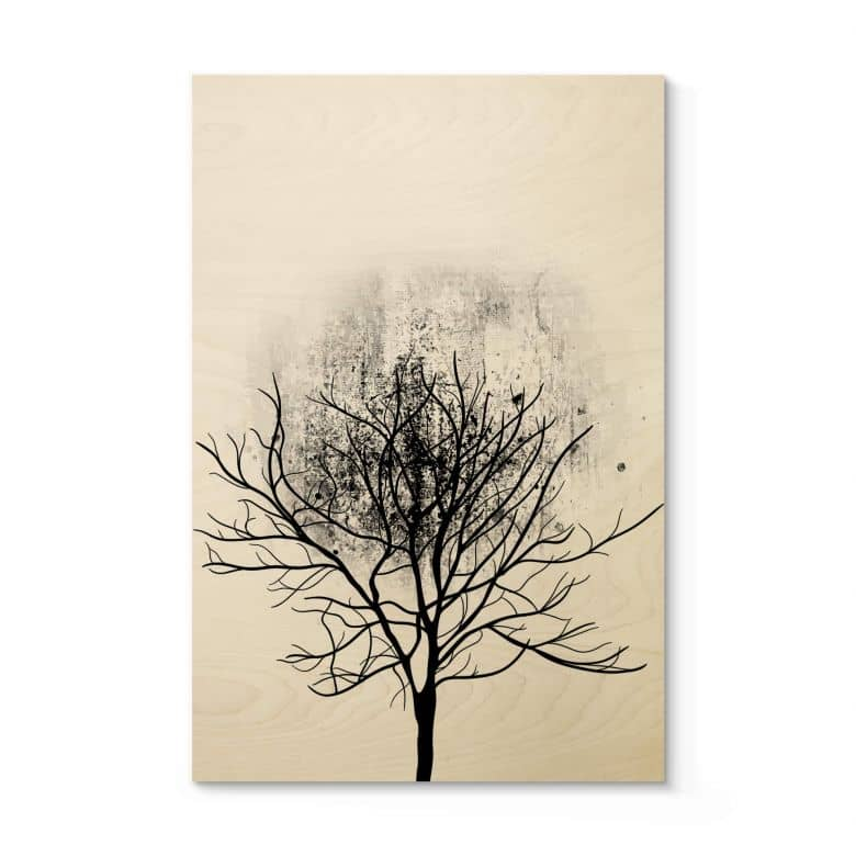 Tableau en bois Kubistika - Étude de l'arbre 03