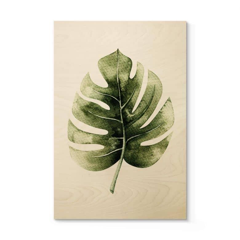 Holzposter Kvilis - Monstera Leaf