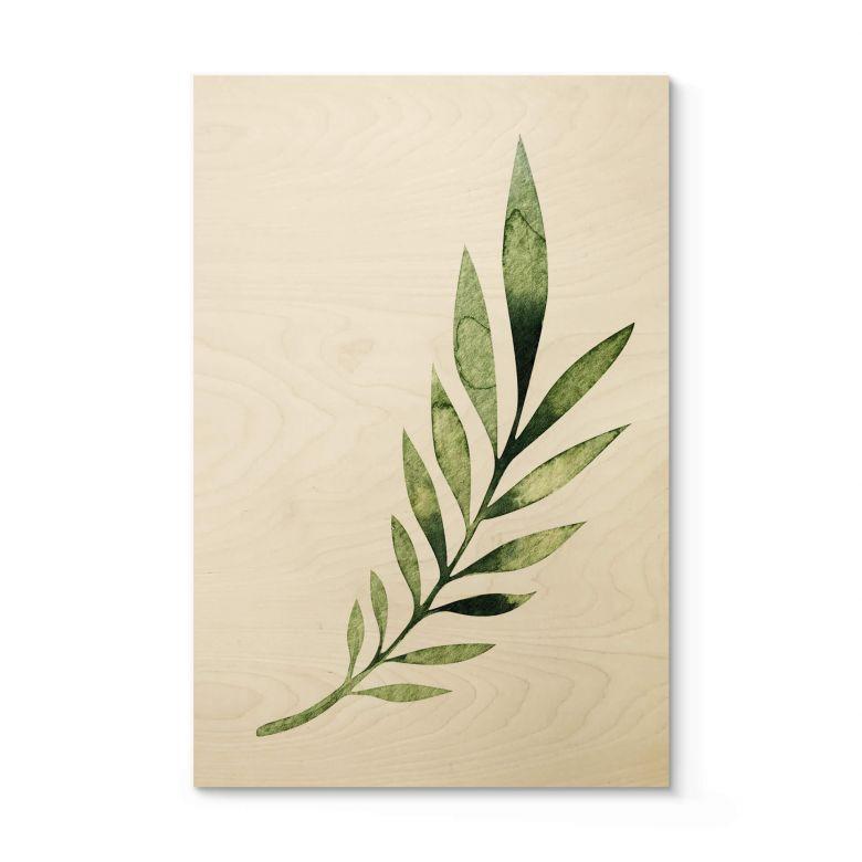 Holzposter Kvilis - Palm Leaf