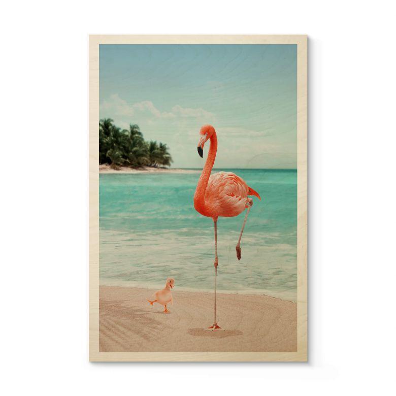 Houten Poster Loose - Wannabe Flamingo