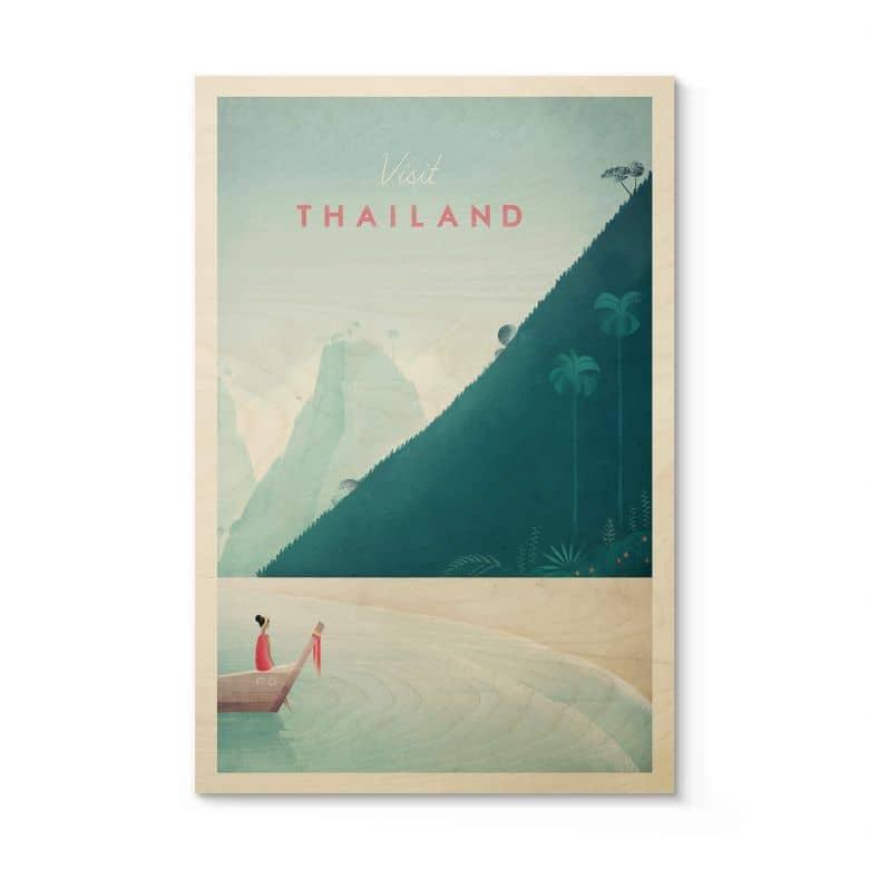 Houten Poster Rivers - Thailand