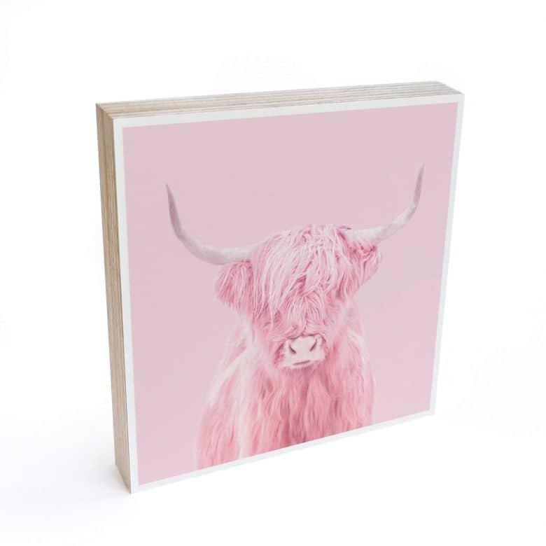 Bloc en bois à poser - Fuentes - Vache des Highlands
