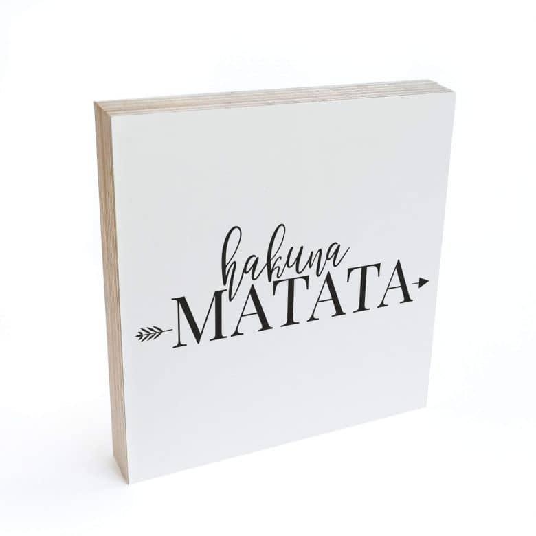 Houten Decoratieblok Hakuna Matata