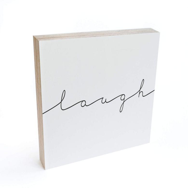 Bloc en bois à poser - Laugh -