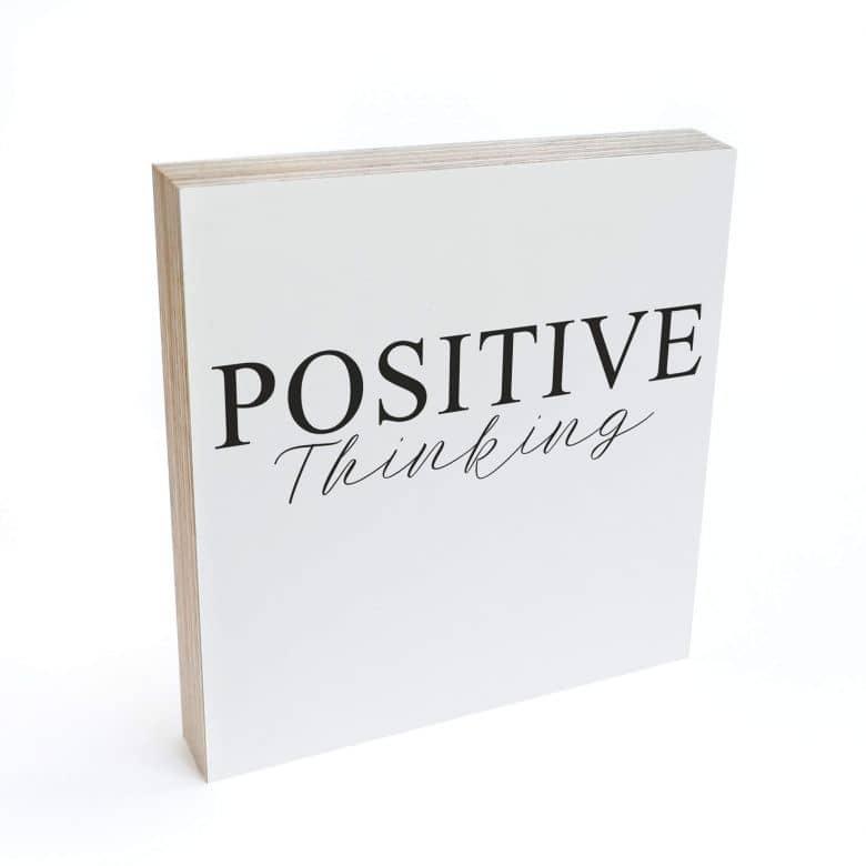 Bloc en bois à poser  - Positive Thinking