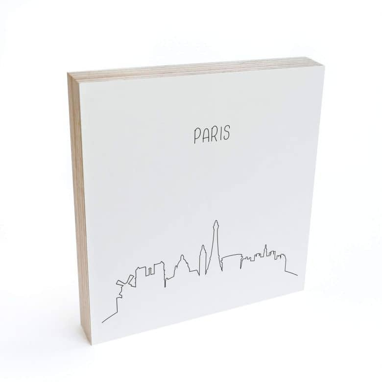 Bloc en bois à poser - Skyline Paris  - Lignes