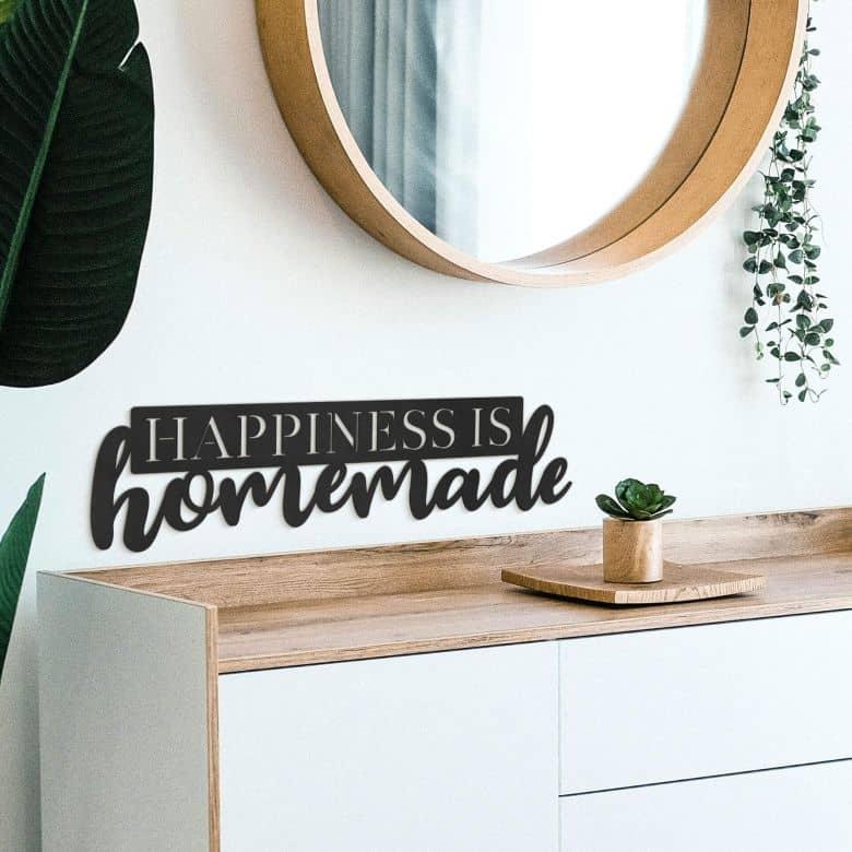 MDF - Holzdeko Happiness is homemade