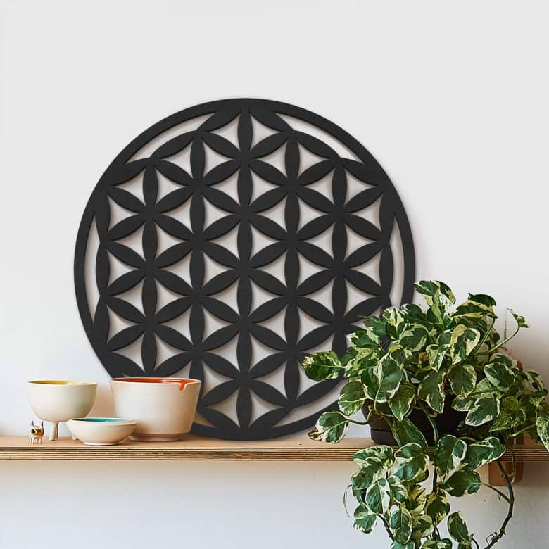 MDF - Holzdeko Geometrie Blume des Lebens