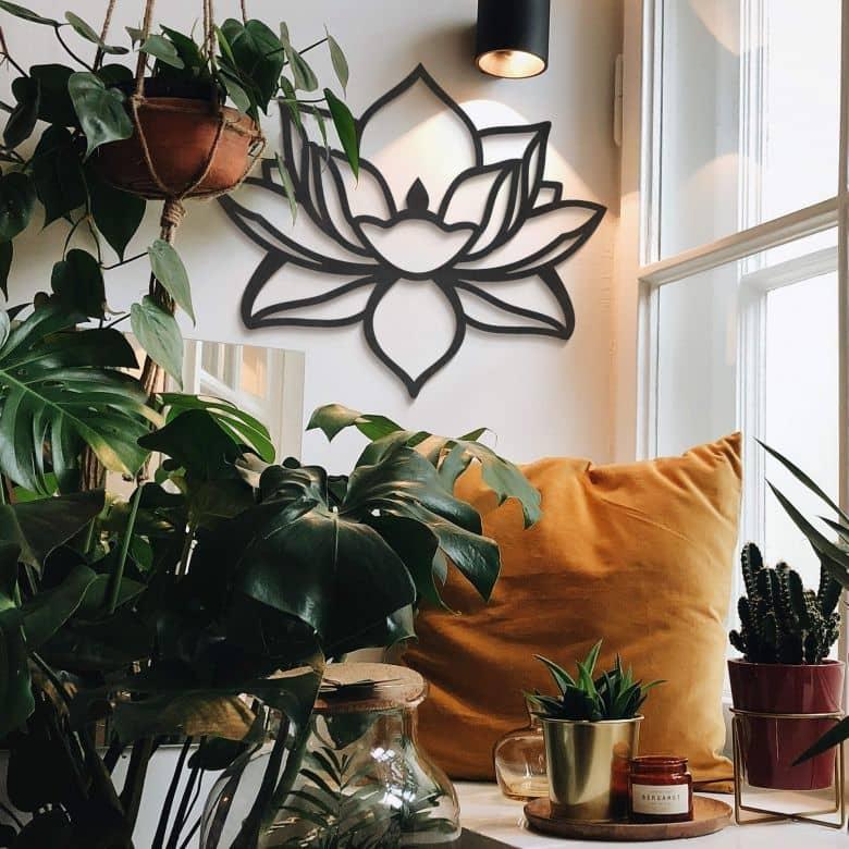 MDF - Holzdeko Lotusblume
