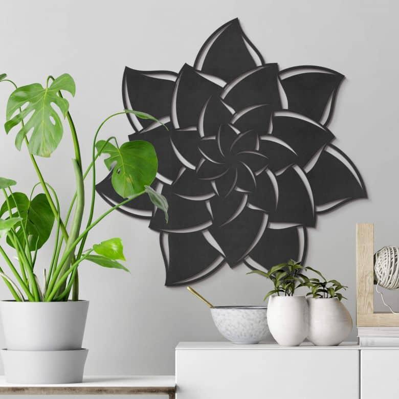 MDF - Holzdeko Mandala Blume 02