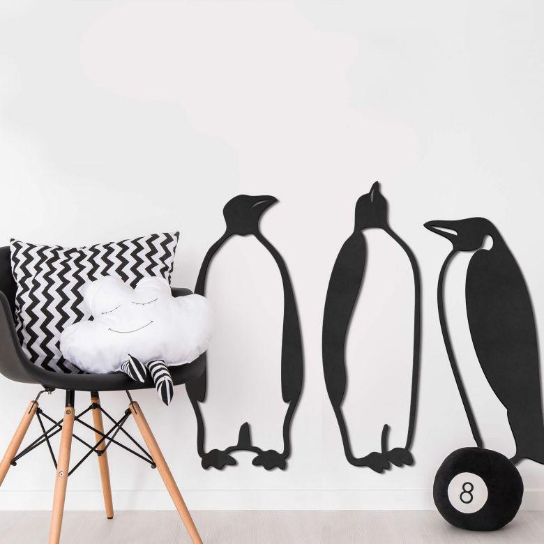 MDF - Holzdeko Pinguine (3-teilig)