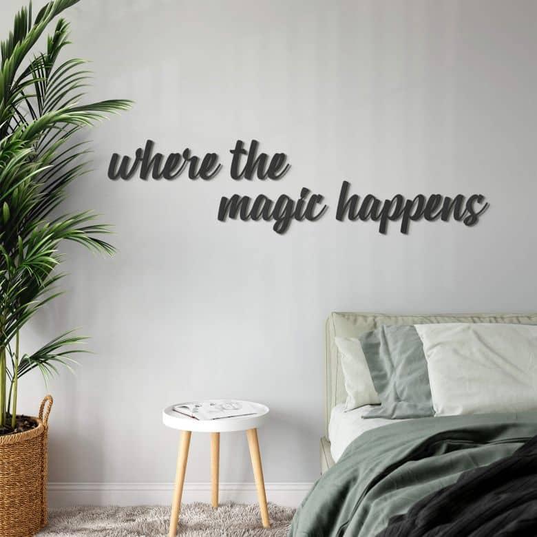 Décoration en bois MDF -  Where the magic happens