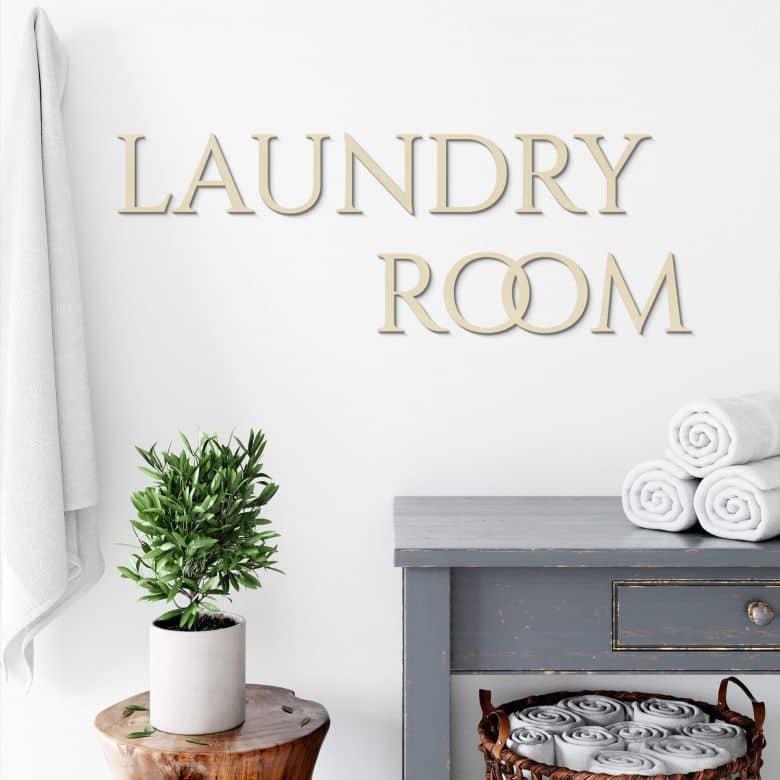 Lettres décoratives en placage bois de peuplier - Laundry Room
