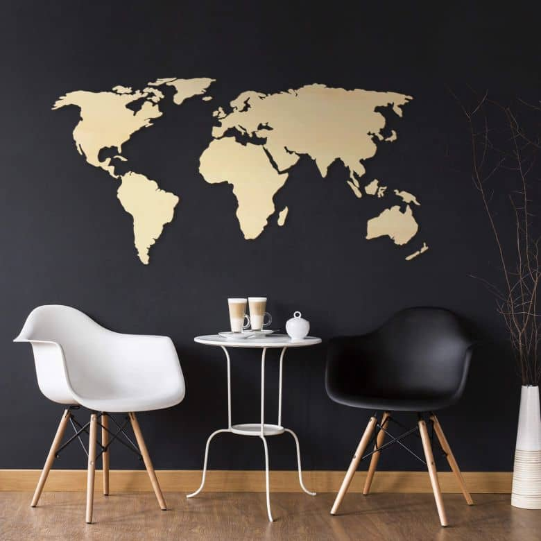 Wooden 3D Worldmap – Poplar