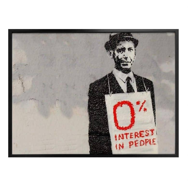 Poster Banksy - Zero interest in people