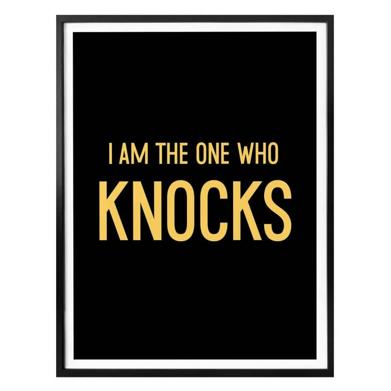 Poster - I am the one who knocks