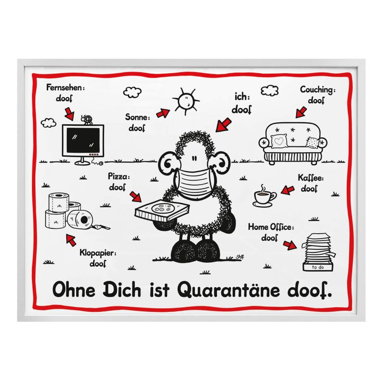 Poster Sheepworld - Quarantäne doof
