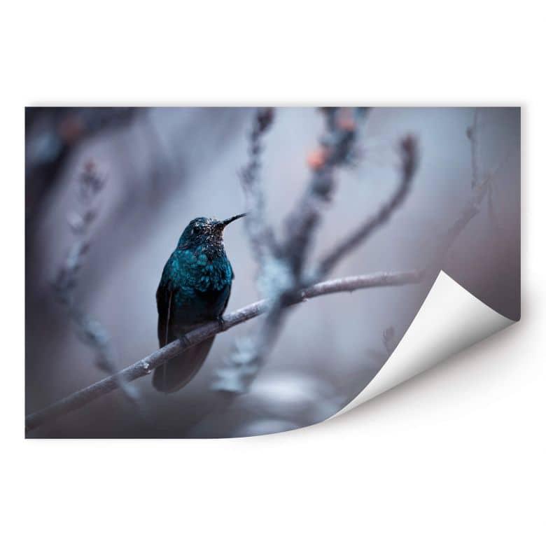 Wallprint Bravin - Electrical Blue