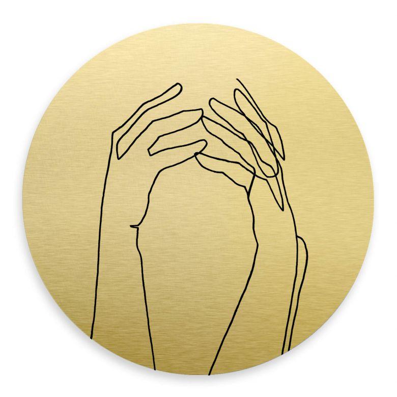 Wandcirkel met goud effect Hariri - Desperate
