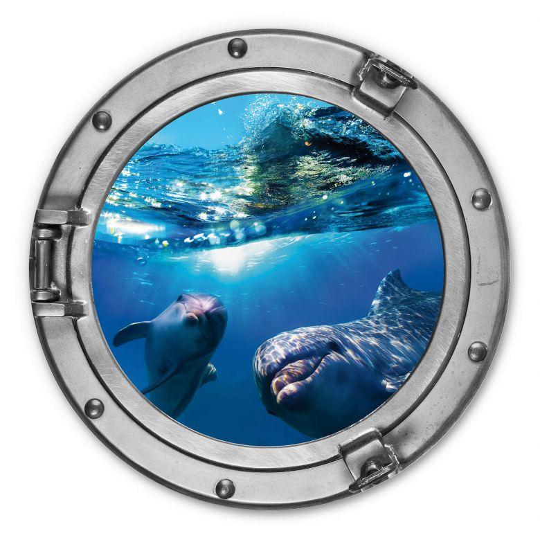 Wandcirkel 3D Optiek - Dolfijnen
