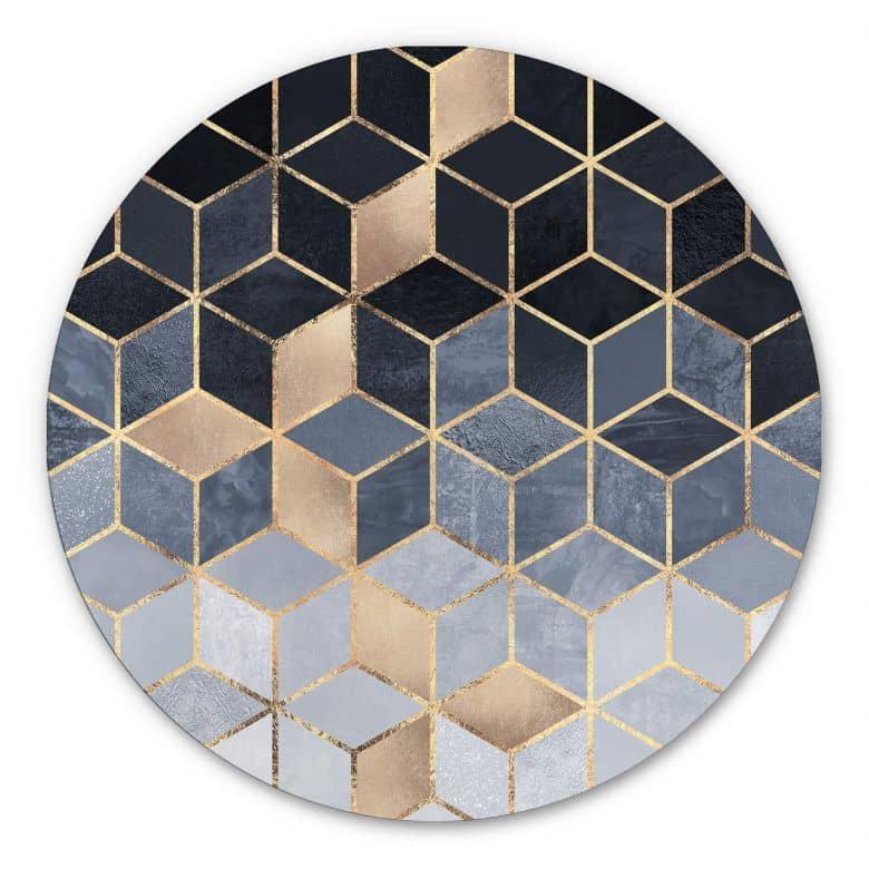 Wandcirkel Fredriksson - Blue Geometry