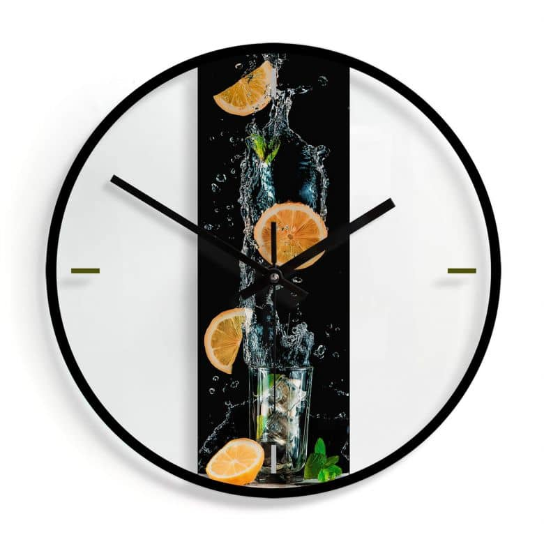 Orologio in vetro Belenko - Splashing Lemonade