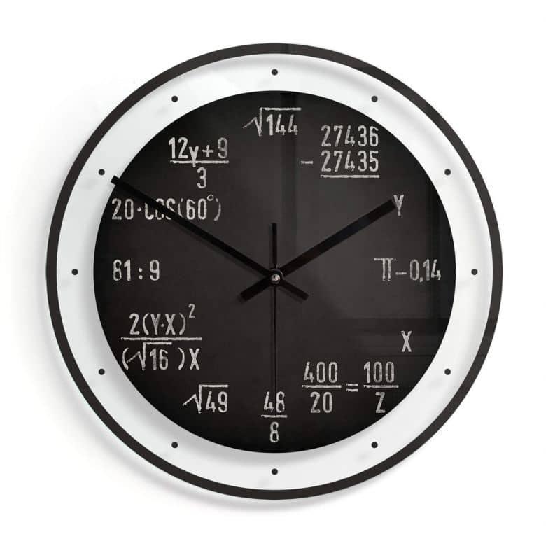 Orologio in vetro - Formule Ø30 cm