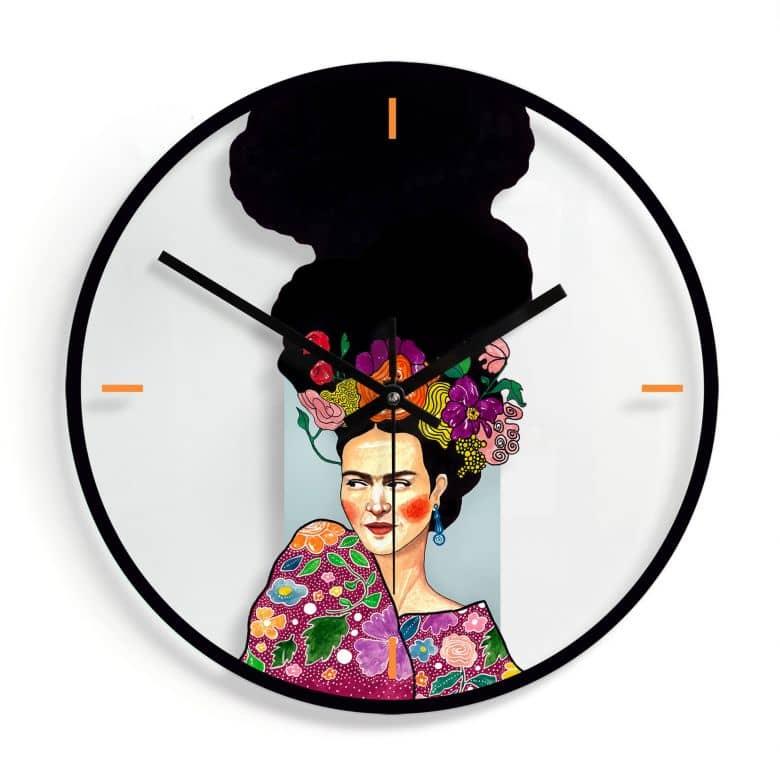 Orologio in vetro Hülya - Frida Ø30 cm