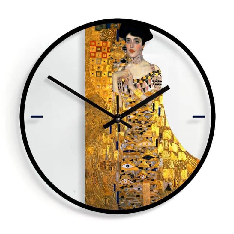 Glazen Wandklok Klimt - Adele Bloch