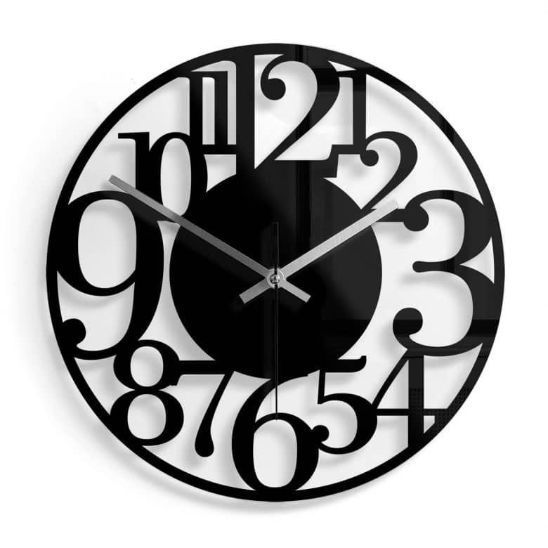 Orologio in vetro - Moderno Ø30 cm