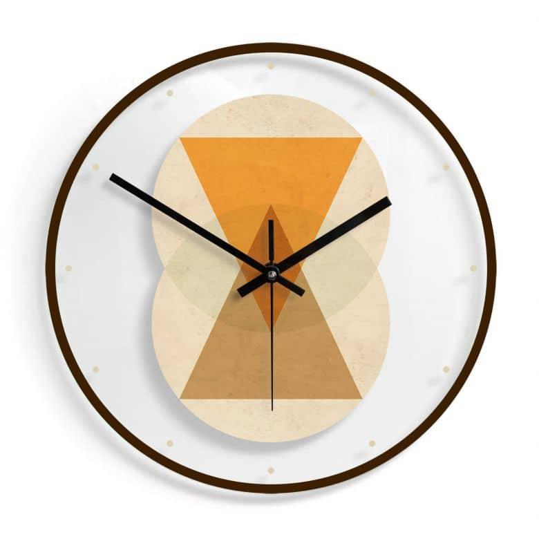 Orologio in vetro Nouveauprints - Geometrie
