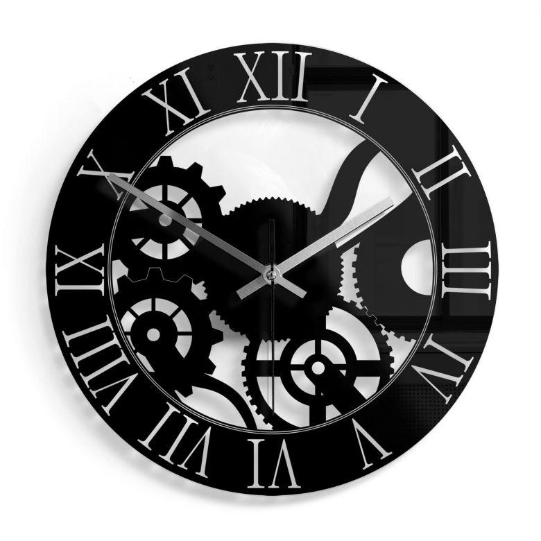 Orologio in vetro - Ingranaggi