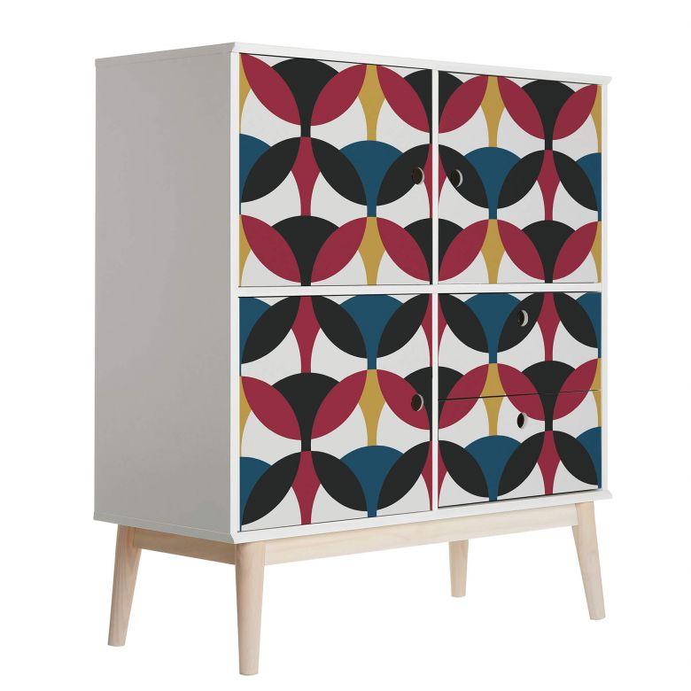 Sticker meuble, Film décoratif adhésif - lavable - Cercles