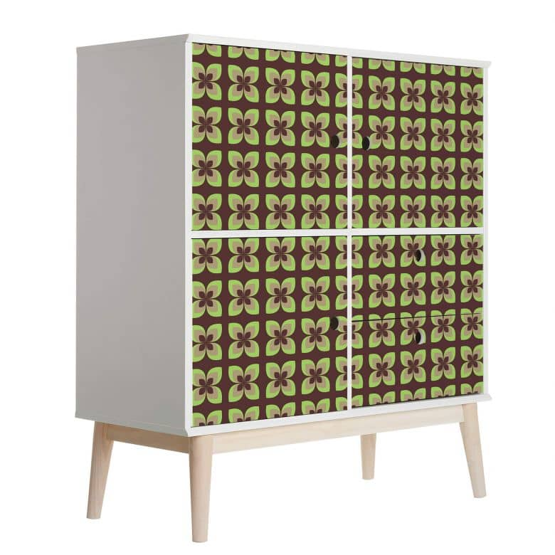 Sticker meuble, Film décoratif adhésif - lavable - Rétro