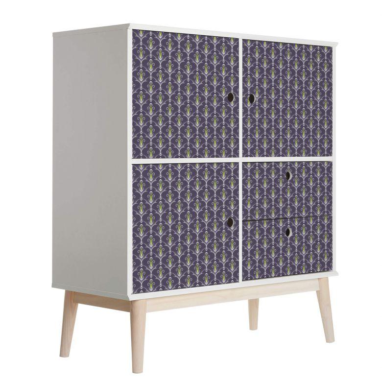 Sticker meuble, Film décoratif adhésif - lavable - Baroque 02
