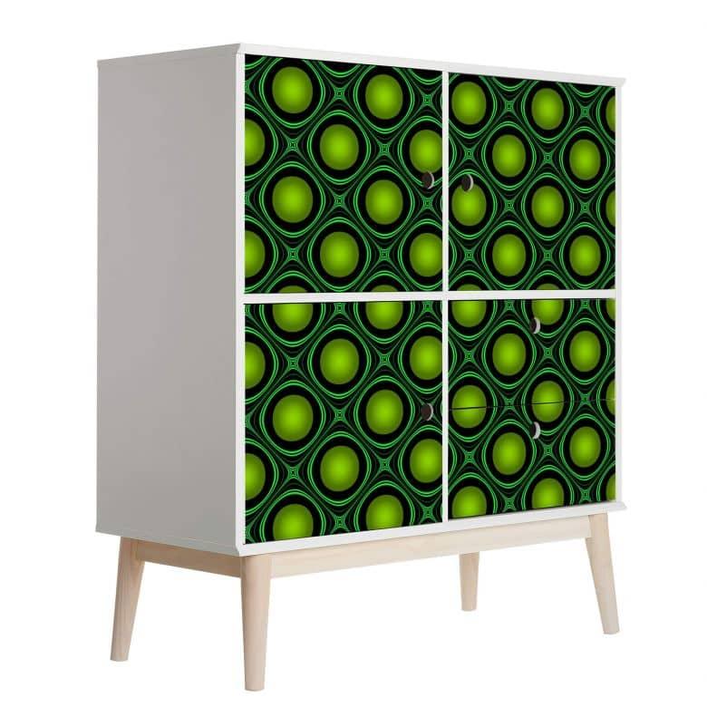 Furniture Wrap - Green Bubbles