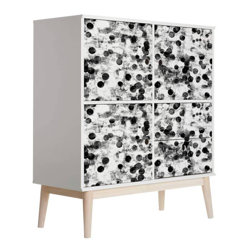 Möbelfolie, Dekofolie - abwischbar - Grey Dots