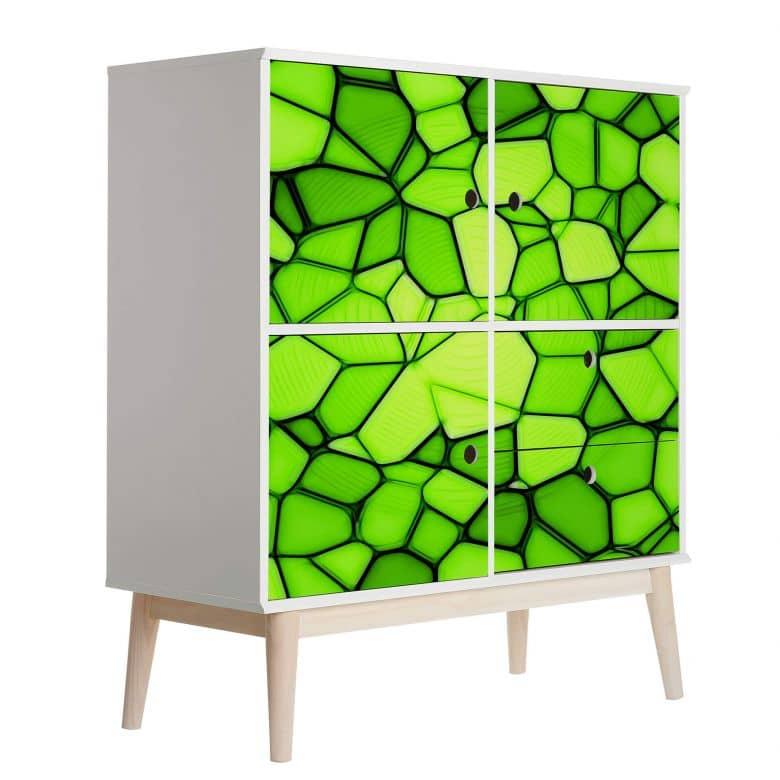 Möbelfolie, Dekofolie - abwischbar - Grünes Mosaik