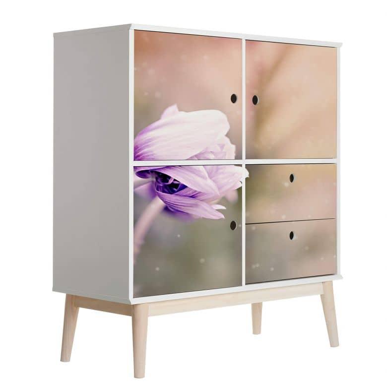 Möbelfolie, Dekofolie - abwischbar - Violet Anemone