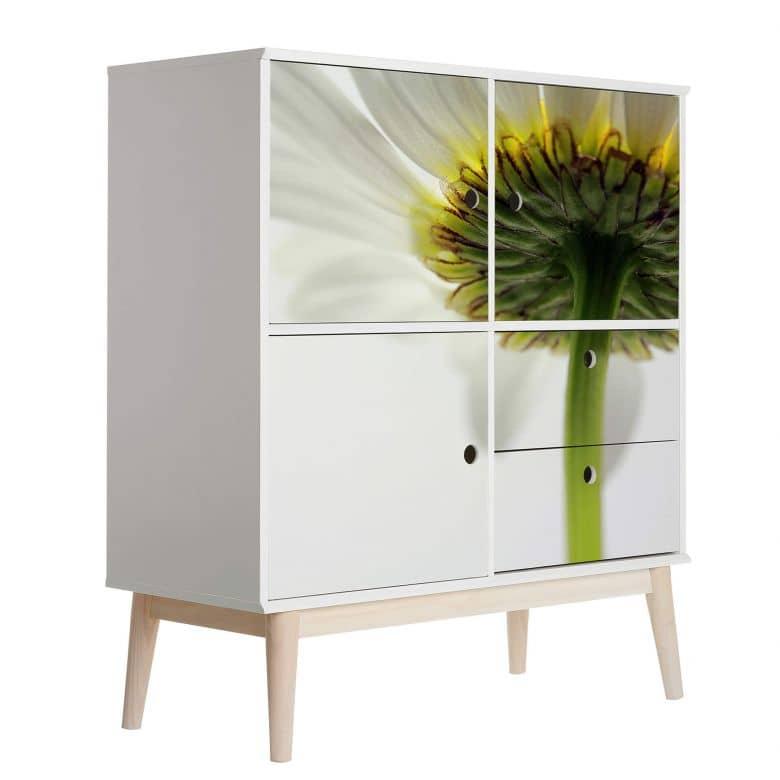 Furniture Wrap - White Gerbera
