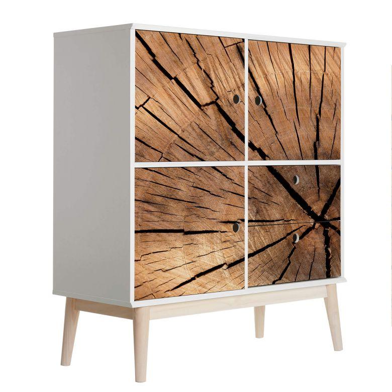 Möbelfolie, Dekofolie - abwischbar - Wooden Texture
