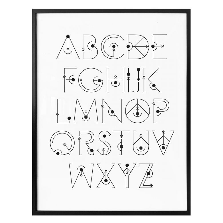 Poster Alphabet Gravity Wall Art Com